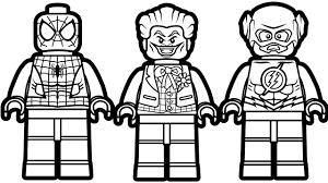 Lego Flash Coloring Pages With Lego Justice League Coloring Pages