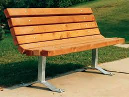 wooden bench plans with back outdoor wood easy