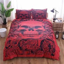 skull duvet cover set fantasy quilt cover set 3d skull bedding set twin queen king size