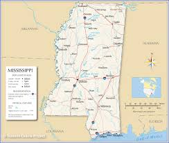 reference map of mississippi  nations online project
