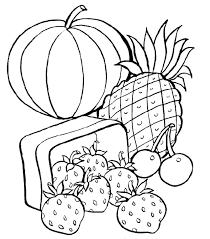 Healthy Foods Coloring Pages Avusturyavizesiinfo
