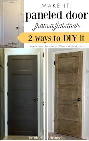 make a 5 panel door from a flat door jenna sue designs on remodelaholic