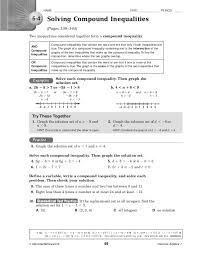kuta infinite algebra 1 compound inequalities absolute value inequalities worksheet with answers worksheets