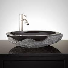 stone vessel bathroom sinks inspirational harney stone vessel sink chiseled edge bathroom