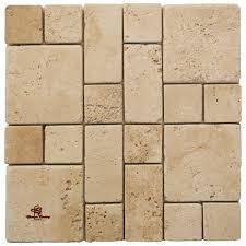 ivory square mini french pattern travertine tile mosaic