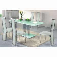 Frosted glass dinning table Dining Room Ice Dining Table In Frosted Glass With Dining Chairs White Pinterest Ice Dining Table In Frosted Glass With Dining Chairs White Home