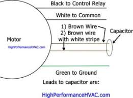 How To Wire A Run Capacitor To A Motor Blower Condenser Wiring