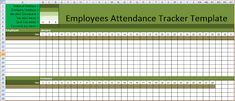 Employee Absence Tracking Excel Template 2018 Employee Monthly