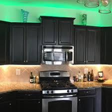 RGB Warm White Strip LIghts are used to Light up Under and Over
