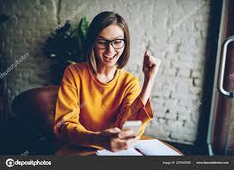 Getting Job Offer Emotional Female Eyewear Happy Getting Good Job Offer Mail Digital
