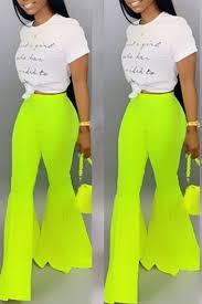 Lovely Stylish High Waist Green Horn Type Pants