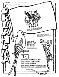 Small Picture Oklahoma State Symbol Coloring Page by Crayola Print or color