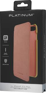 best platinum folio wallet case for apple iphone 7 plus and 8 plus deep pink pt ma7spwfp