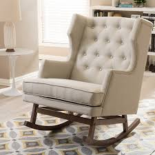 padded rocking chair. Delighful Chair Shop Gracewood Hollow Lu0027Engle Contemporary Light Beige Fabric Rocking Chair   Free Shipping Today Overstockcom 20543640 In Padded