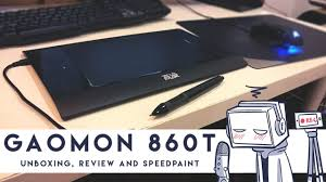 unboxing and reviewing the <b>Gaomon 860T</b> graphic tablet then ...