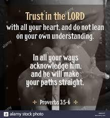 Vertraue Auf Den Herrn Mit Deinem Ganzen Herzen Und Stütze Dich