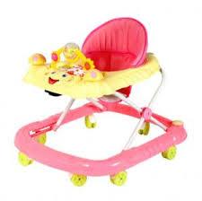 Red Plastic Adjustable Baby Walker 6 Wheel Kids Walker With Musical ...