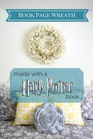 DIY Book Page Wreath made out of a Harry Potter book! // Wayward Sunflower