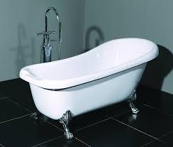 modern freestanding bathtub featuring white acrylic material bathtub plus silver metal bathtub legs in carving and