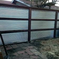 metal privacy fence sheet panels corrugated canada m