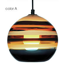 modern hand painted colorful orb glass pendant lighting 10683