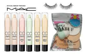 mac cc colour corrector stick cream concealer sponge makeup puff bo eyelahes 35 gm