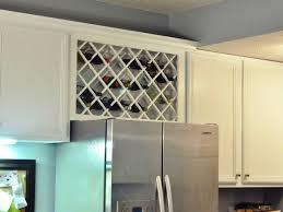 wine rack cabinet above fridge. Image Of: Building Wine Rack Above Fridge Cabinet