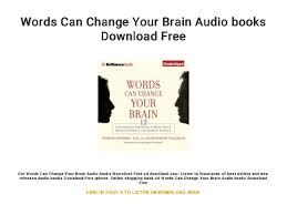 Words Can Change Your Brain Audio Books Download Free