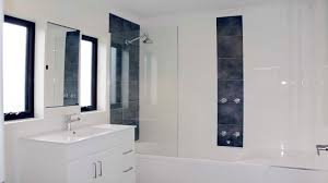 allure frameless shower screen panel over bath tub highton supplied