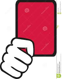 Image result for free usage image of soccer red card
