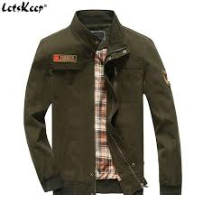 letskeep autumn military jacket men army green casual er jackets