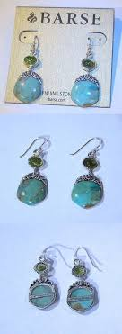 dead gorgeous attachment green brown other fine earrings  barse dangle earrings turquoise and green peridot