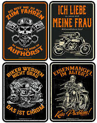 Blechschild Lustig Fun Schilder Biker Bike Motorrad Geschenke
