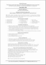 Medical Assistant Resume Examples Objectives Free Sample Dental