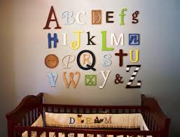 baby girl wall decor alphabet letters
