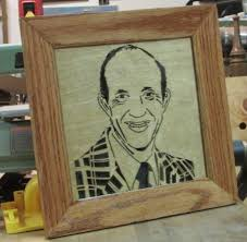 pallet up cycle picture frame with scroll saw portrait art