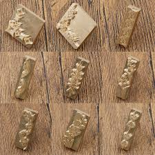 details about brass diy custom made flower leather stamp logo carving tool seal handmade mold