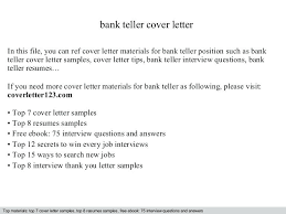 Cover Letters For Bank Tellers How To Write A Cover Letter For A