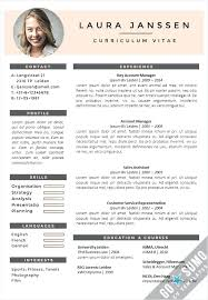 English Resume Template Magnificent Example Word English Cv Template Free Download Growinggarden