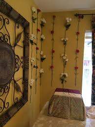 To prepare, women often decorate a kalash (a metal pot) to resemble varalakshmi herself and adorn her with vibrant pin the pleats on both ends of the saree with a safety pin. Fresh Flowers To Decorate The Wall I Covered A Box With A Silk Saree To Give A Base For The Murti Fresh Flowers Decor Flowers
