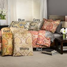 milano paisley cotton duvet cover set free on orders over 45 com 14790556