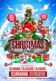 christmas event flyer template christmas event poster template festival collections