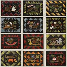 21 best Quilts - Bertie Through the Year images on Pinterest ... & Sale Wool Applique' Quilt Pattern