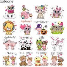 <b>ZOTOONE</b> Flower Applique <b>Cute</b> Animal <b>Unicorn Iron</b> on Transfers ...