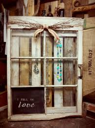 Wooden Window Frame Crafts Display Case For Jewelry Refurbished Window Art 7500 Via Etsy