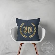 Monogrammed Decorative Throw Pillows