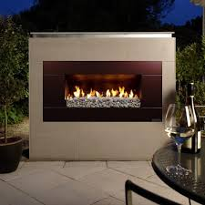 escea ef5000 outdoor natural gas fireplace bronze with new zealand river rock bbqguys