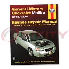 Chevy Malibu Haynes Repair Manual Maxx LT SS LS Base LTZ Classic ...