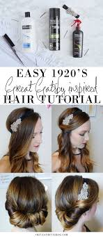 easy 1920 s great gatsby hair tutorial ad oliveandivy more
