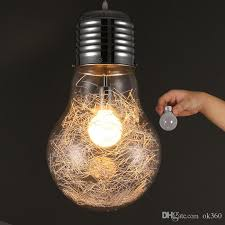 stylish big bulb modle pendant lamp new modern dining room aluminum wire inside glass ball lampshade pendant light fixture moroccan pendant lamp ceiling